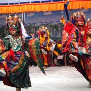 Mask Dance at Mani Rimdu Festival Trek
