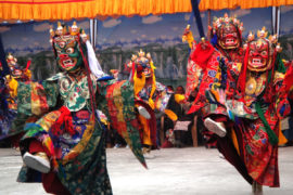 Mask Dance at Mani Rimdu Festival Trek