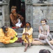 Sadhus at Pashupatinath Temple in Kathmandu, Nepal