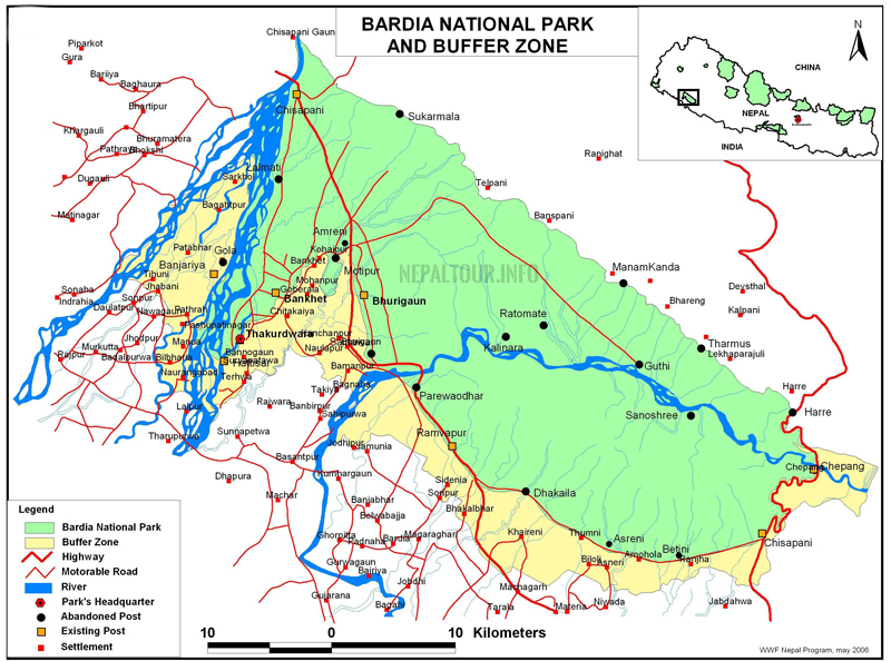 Bardia National Park Map